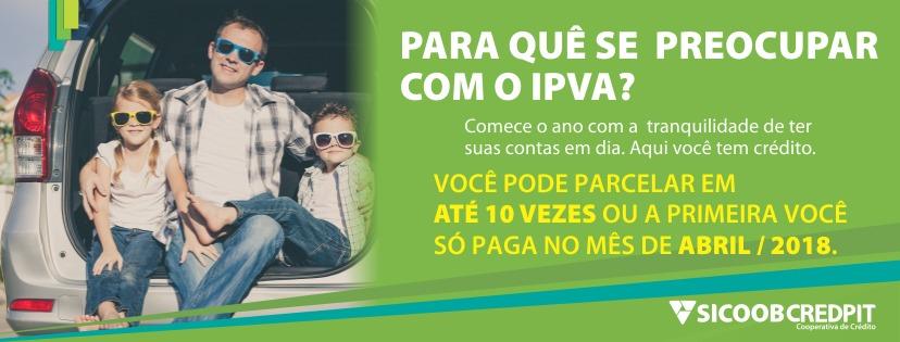 IPVA 2018 - Sicoob Credpit - capa Facebook